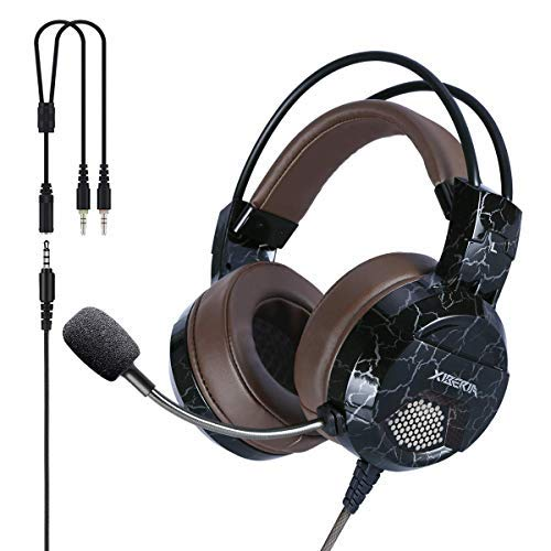 XIBERIA E1 PS4 Gaming Headset Xbox One Headphones Computer PC Mic Stereo Gamer Microphone for PC/Playstation 4/Xbox One/Laptop/Tablet/Cell Phone/Mac