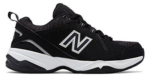 ロックまっすぐにする不誠実(ニューバランス) New Balance 靴?シューズ レディーストレーニング Womens 608v4 Black with White ブラック ホワイト US 10.5 (27.5cm)