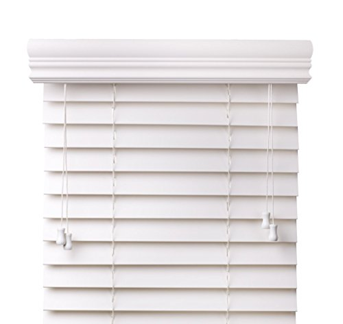 Arlo Blinds Snow White 2-Inches Faux Wood Horizontal Blinds - Size: 61