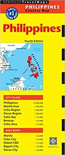 Philippines Travel Map Fifth Edition Periplus Editors