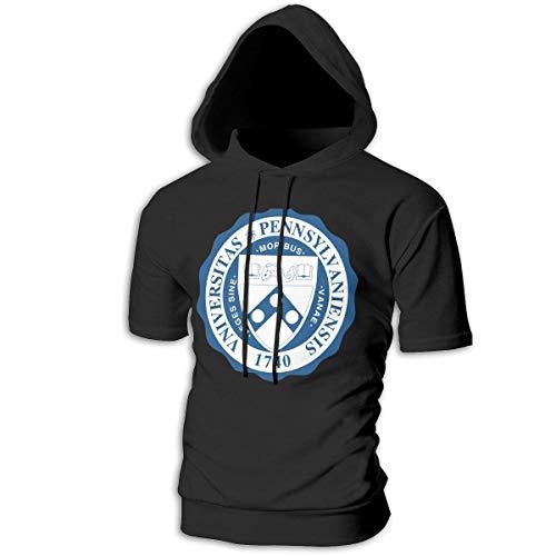 (Syins Man's Customized with Cap University of Pennsylvania Cool Sweatshirts Black)