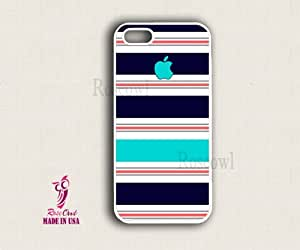iphone 5s case, iphone 5s cover, iphone 5s cases - Blue Turqouise stripes app...