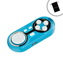 ENHANCE Multimedia Bluetooth Gamepad Controller with Selfie Camera Shutter Control & Charging Port - Works with Samsung Galaxy Note 5 , Motorola Moto X , HTC One M9 & more *Includes Accessory Bag*