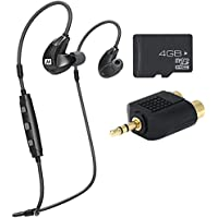 MEElectronics X7 Plus Stereo Bluetooth Wireless Sports In-Ear Headphones & Memory Card Bundle
