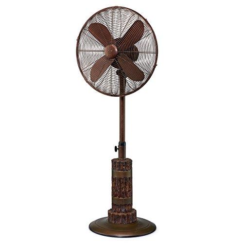 DecoBREEZE Adjustable Height Oscillating Outdoor Pedestal Fan, 18 In, - Pedestal Terra