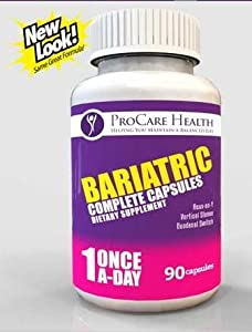 Bariatric Once-A-Day Multivitamin 90 Ct Capsule- Made for Gastric Bypass Sleeve WLS Surgery