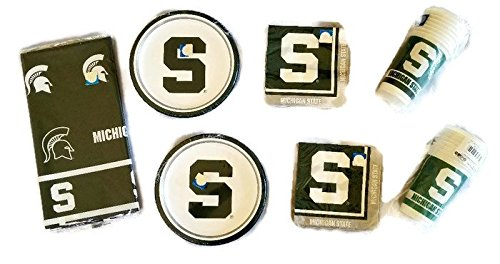 (NCAA Creative Converting Michigan State University Spartans Party Bundle 9
