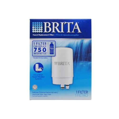 Brita On Tap Key Water Faucet Filtration System Filter, White, 1 pack