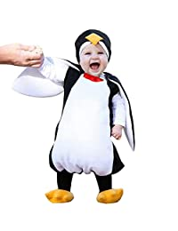 0-24 Months Baby Animal Cosplay Costume,Cute Cartoon Penguin Hooded Romper Footwear Halloween Christmas Party Outfits