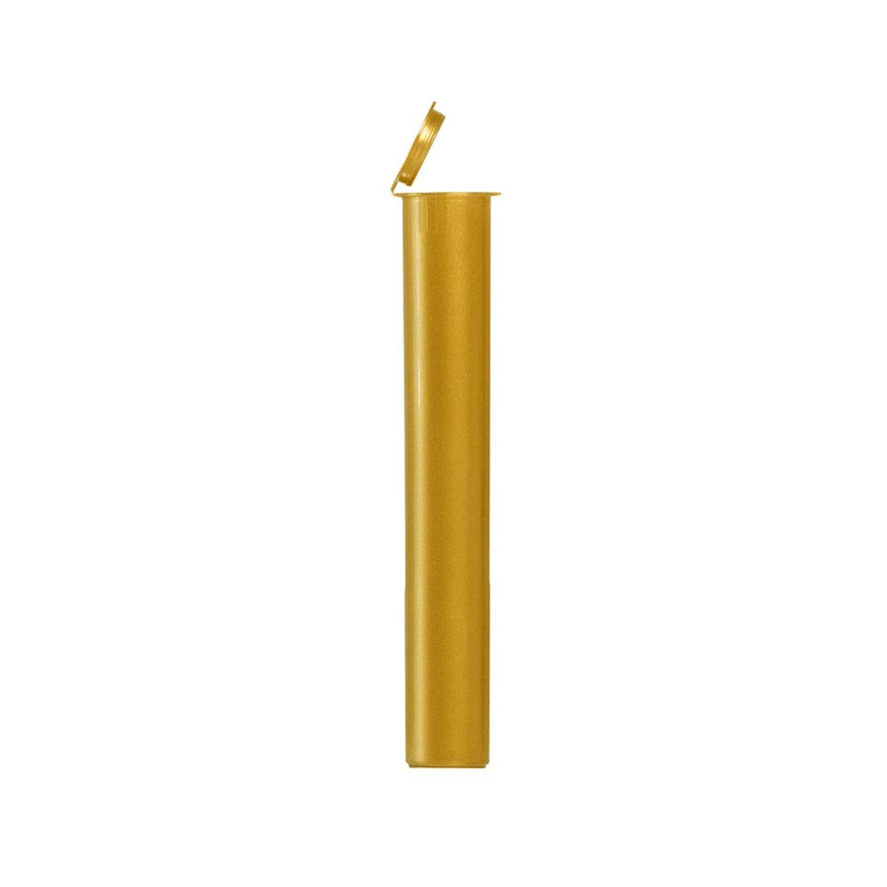 Pre-Roll Joint Tubes Blunt Tubes 116mm Gold Child Resistant 4.5 Inches (1000 Pack) by MJ-Pak