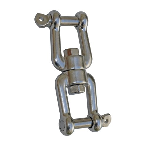 "Marine Jaw/jaw Swivel 1/4"" Anchor Chain Connector for Boat . Stainless Steel. Five Oceans"