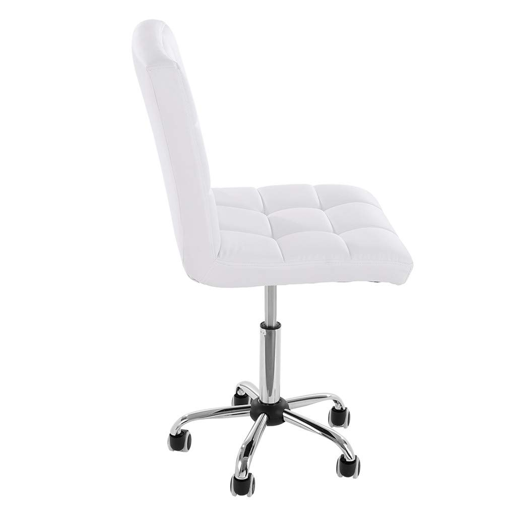WONdere Casual Home Office Chair Fashion Backrest Chair Lift Chair Passenger Seat Reception Chair Task Chair in Vegan Leather (White)