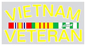 Rothco Vietnam Veteran with Ribbon Decal/Outside