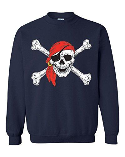 Mom's Favorite Christmas Sweatshirt Jolly Roger Skull Crossbones Halloween Ugly Sweater Xmas Party Unisex Crewneck Sweater