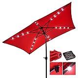 New 10ft UV Blocking Rectangle Umbrella Patio Outdoor Bistro...