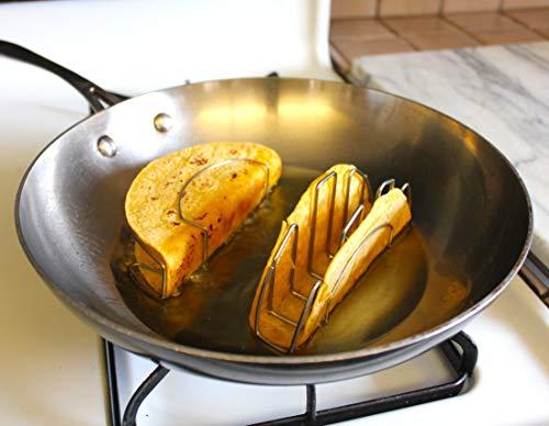 Mi Taco - Make Perfect Flat-Bottom Taco Shells for Baking or Frying - Using REAL Corn or Flour Tortillas