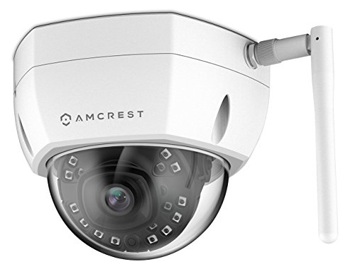 (Amcrest ProHD Fixed Outdoor 4-Megapixel (2688 x 1520P) Wi-Fi Vandal Dome IP Security Camera - IP67 Weatherproof, IK10 Vandal-Proof, McroSD Capabilty, 4MP (2688 x 1520P), IP4M-1028W (White))