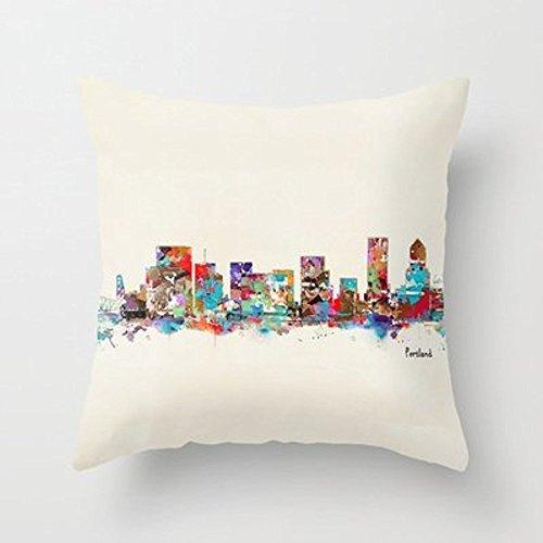 My Honey Pillow Portland Oregon Skyline Throw Pillow By Bri.Buckleyfor Your Home