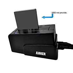 Anker® USB 3.0 & eSATA to SATA External Hard Drive Docking Station for 2.5 or 3.5in HDD, SSD [4TB Support]