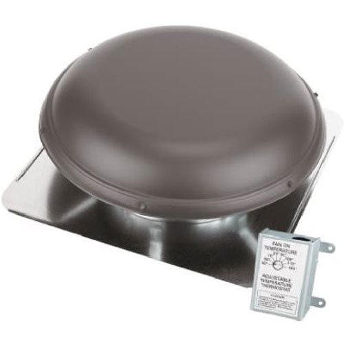 - AIR VENT 53827 Roof Mounted Power Attic Ventilator, Brown