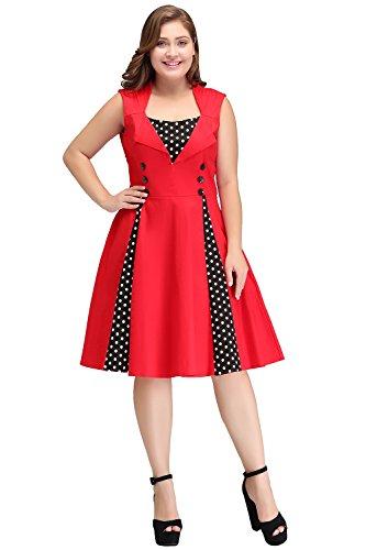 MisShow Women's Plus Size Classic Vintage Mother of The bride Dress
