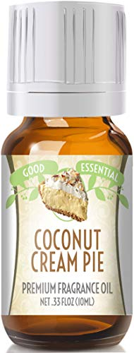 Coconut Cream Pie Scented Oil by Good Essential (Premium Grade Fragrance Oil) - Perfect for Aromatherapy, Soaps, Candles, Slime, Lotions, and More!