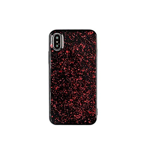 (Platinum Sequin Glitter Epoxy Soft Case for iPhone Xs MAX XR X 6 6S 7 8 Plus Protector Phone Cases Shell for XS MAX,Red,for iPhone 7 Plus)
