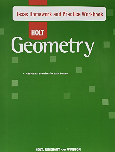 Holt Geometry Texas Homework and Practice Workbook