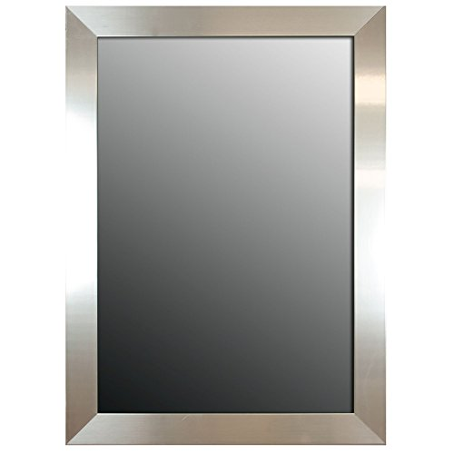 Second Look Mirrors Stainless Flat Framed Wall Mirror, 26