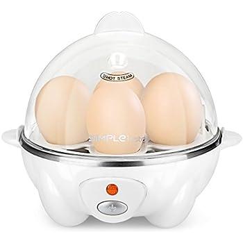 SimpleTaste Egg Cooker Egg Steamer Electric Egg Poacher Egg Boiler 7 Egg Capacity