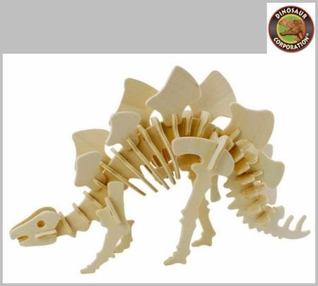 Stegosaurus Wooden Dinosaur Skeleton Model Kit (Wooden Kit Skeleton)