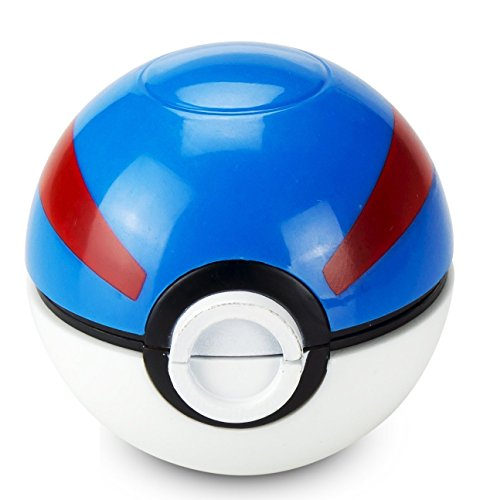 Pokemon-Ball-Pokeball-Grinder-Tobacco-Weed-Spice-Herb-With-Pollen-Catcher-Great-Ball