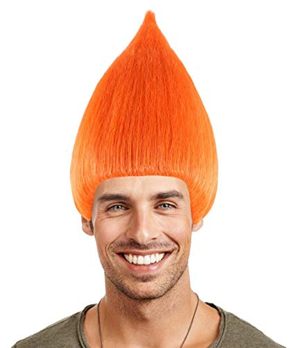 Halloween Party Online Colorful Troll Wig Collection (Adult, Orange)