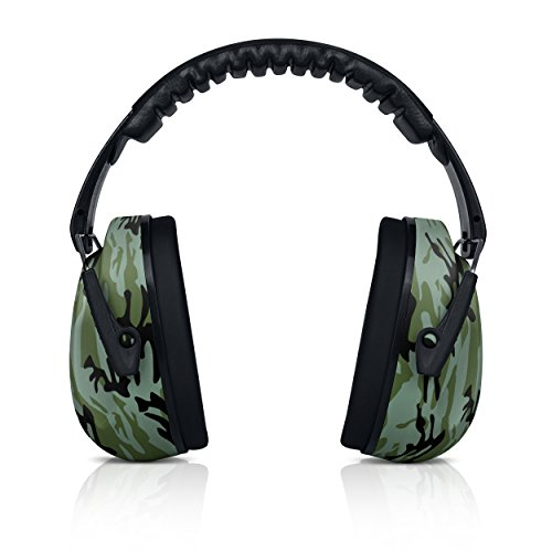 HearTek Kids Ear Protection Noise Reduction Children Protective Earmuffs - Sound Cancelling Hearing Muffs for Toddler, Baby, Infants - Adjustable, Foldable with Travel Bag- Camo
