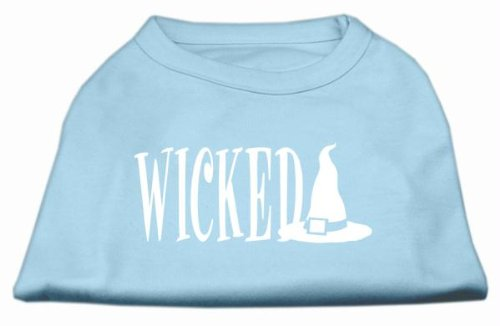 Wicked Screen Print Shirt - Mirage Pet Products 12-Inch Wicked Screen Print Shirt for Pets, Medium, Baby Blue