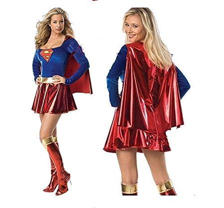 LVLUOYE Traje Superwoman Cosplay Atractivo de Halloween Juego de ...