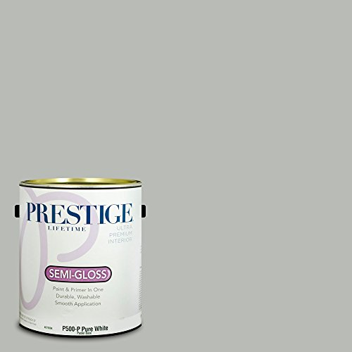 Prestige Paints Interior Paint and Primer In One, 1-Gallon, Semi-Gloss,  Comparable Match of Benjamin Moore Coventry Gray -