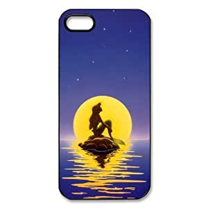 CTSLR The Little Mermaid Hard Case Cover Skin for Apple iPhone 5/5s- 1 Pack - Black/White - 2 by runtopwell