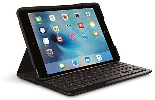 Logitech FOCUS Protective Case with Integrated Keyboard for iPad Mini 4, Black (Renewed) (Ipad 4 Case Logitech)