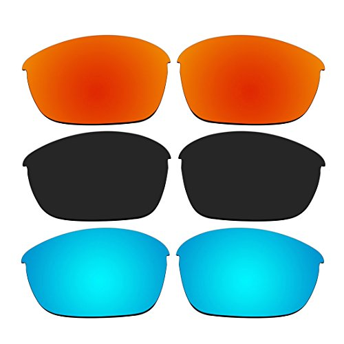 Free 3 Pair Replacement Polarized Lenses for Oakley Half Jacket 2.0 Sunglasses Pack P2