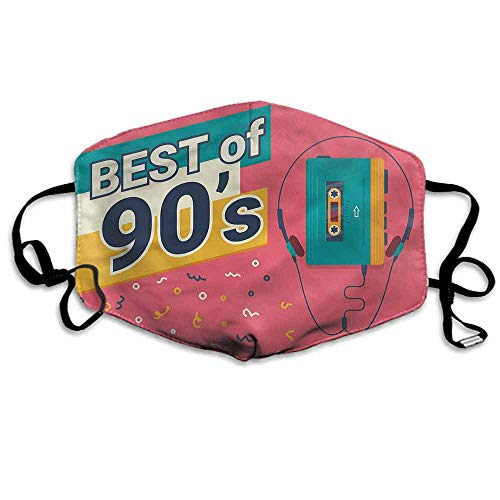 90s Dust Mouth Mask Best of 90s Cassette Player for Men and Women W4