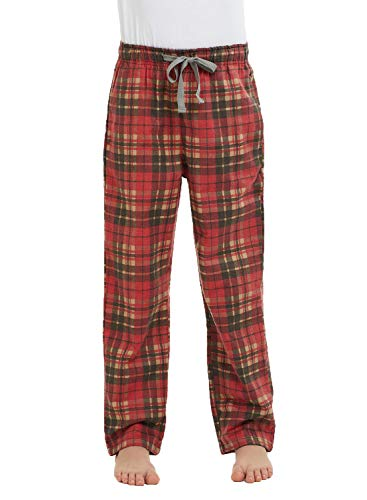 HiddenValor Big Boys Cotton Pajama Lounge Pants (Red/Blue, S)