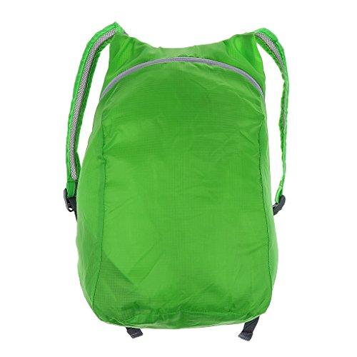 MagiDeal Wasserdichter Rucksack kompakt und faltbar Daypack Outdoor Sporttasche Ultraleicht - Für Damen Herren Reisen Wandern Fahrrad Sportrucksack Reiserucksack Grün