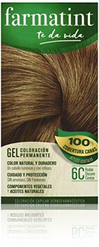 🥇 Farmatint Tinte permanente Gel 6C Rubio Oscuro Ceniza