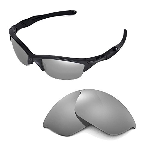Walleva Replacement Lenses for Oakley Half Jacket 2.0 Sunglasses - Multiple Options Available (Titanium Mirror Coated - Polarized) by Walleva