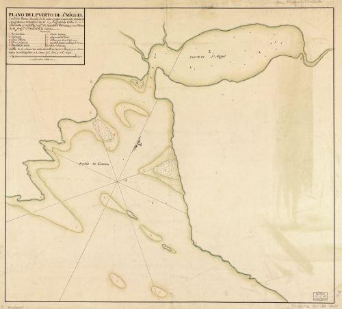 1700 Map Plano del Puerto de Sn. Miguel y Bahía de Gaston situada en la costa septentrional del - Costa Store Finder