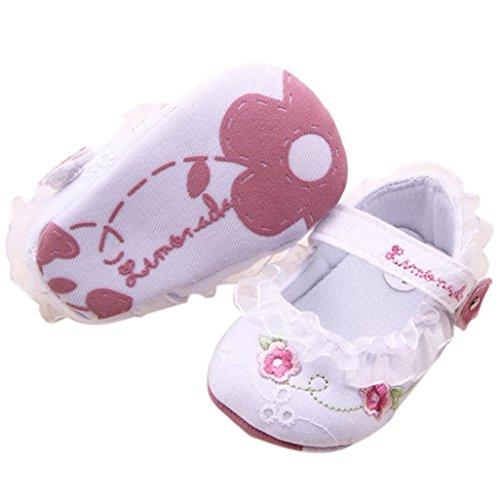 Por 0-18 meses bebé,Auxma Niño De La Flor De La Muchacha Zapatos