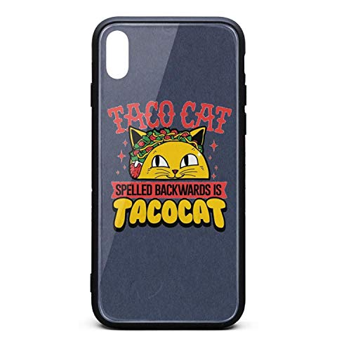 Taco Cat Spelled Backwards is Taco Cat Funny Phone Case for iPhone Xs MAX Unisex Vintage Air Skid-Proof Back Cover Skin