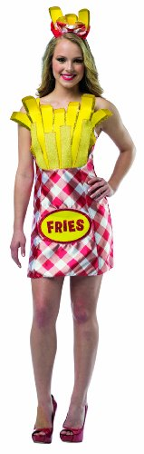 Rasta Imposta Women's Foodies French Fries Dress, Multi, One Size (French Fries Child Costume)