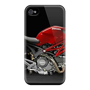 Anti-Scratch Hard Phone Case For Apple Iphone 4/4s (vVc15837ykhQ) Allow Personal Design Realistic Ducati 795 Monster Series